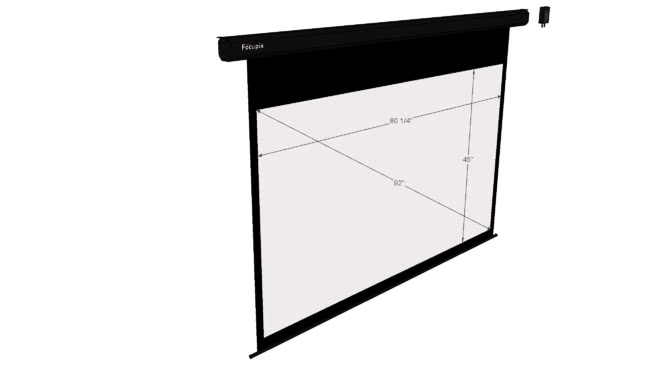 FopPixFraci16:9电动投影仪屏幕-SU模型【ID:940177619】