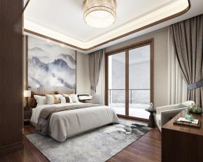 新中式卧室3D模型【ID:927820504】