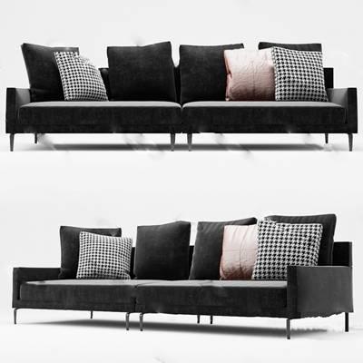 现代多人沙发3D模型下载【ID:919402913】