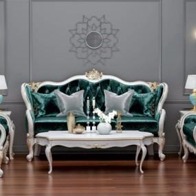 欧式古典沙发组合3D模型【ID:127868005】