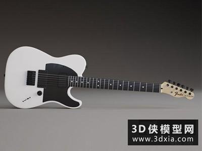电吉他国外3D模型【ID:229487048】