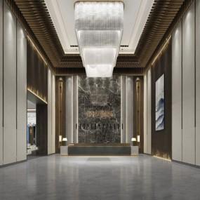 新中式售楼部3D模型【ID:427983519】
