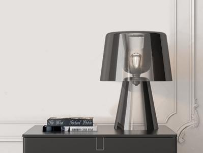 现代玻璃艺术台灯3D模型【ID:832415145】