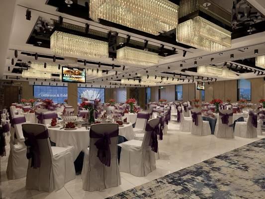 现代宴会厅3D模型【ID:320604648】