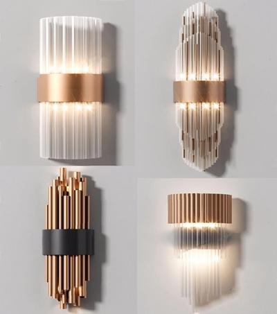 现代时尚奢华壁灯组合3D模型【ID:528277973】