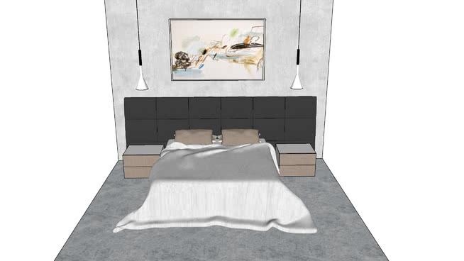 卧室。英国广播公司SU模型【ID:538710031】