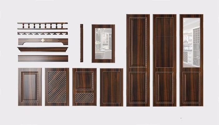 法式橱柜衣柜门板3D模型【ID:728306600】