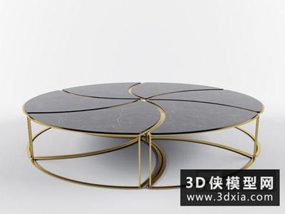 現代茶幾國外3D模型【ID:829402181】