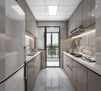 现代厨房3D模型【ID:532381389】