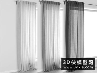 窗帘国外3D模型【ID:329538822】