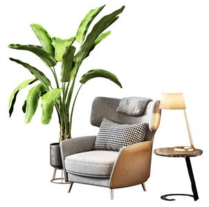 北欧单人沙发3D模型【ID:634675413】