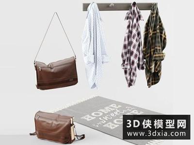 衣服包鞋子組合國外3D模型【ID:929610699】