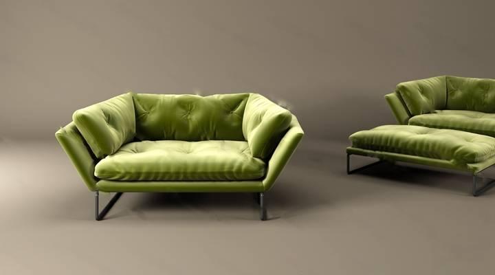 单人沙发3D模型下载【ID:919401656】