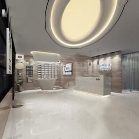 现代医院3D模型【ID:928178631】
