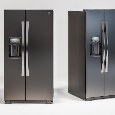現代雙門冰箱3D模型【ID:127765224】