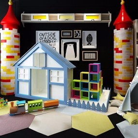 儿童城堡柜帐篷玩具组合3D模型【ID:528013284】
