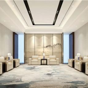 现代新中式接待室3D模型【ID:828139000】