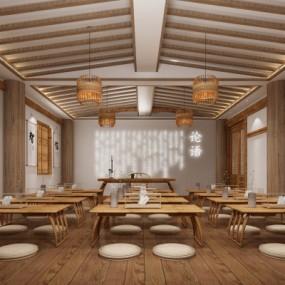 新中式国学教室3D模型【ID:528451885】