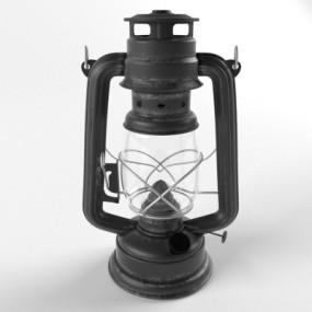 工业风马灯煤油灯3D模型【ID:628459105】