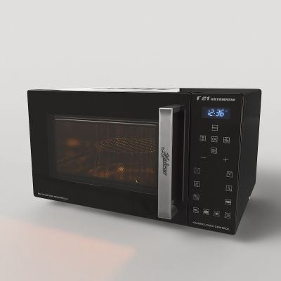 現代微波爐3D模型【ID:828473399】