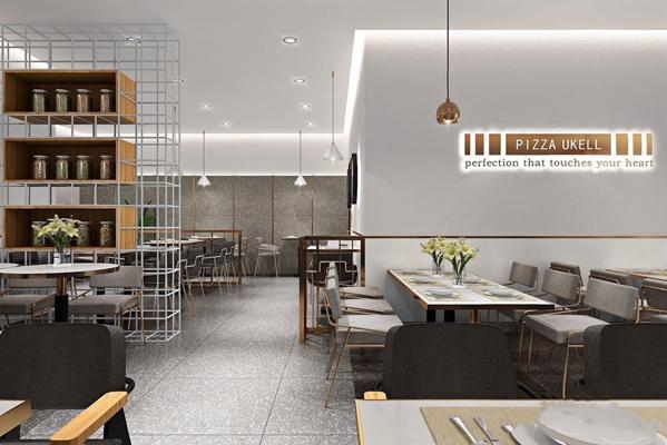 北歐文藝餐飲店3D模型【ID:328037141】