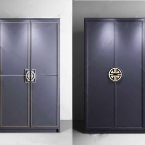 新中式衣柜3D模型【ID:920830916】