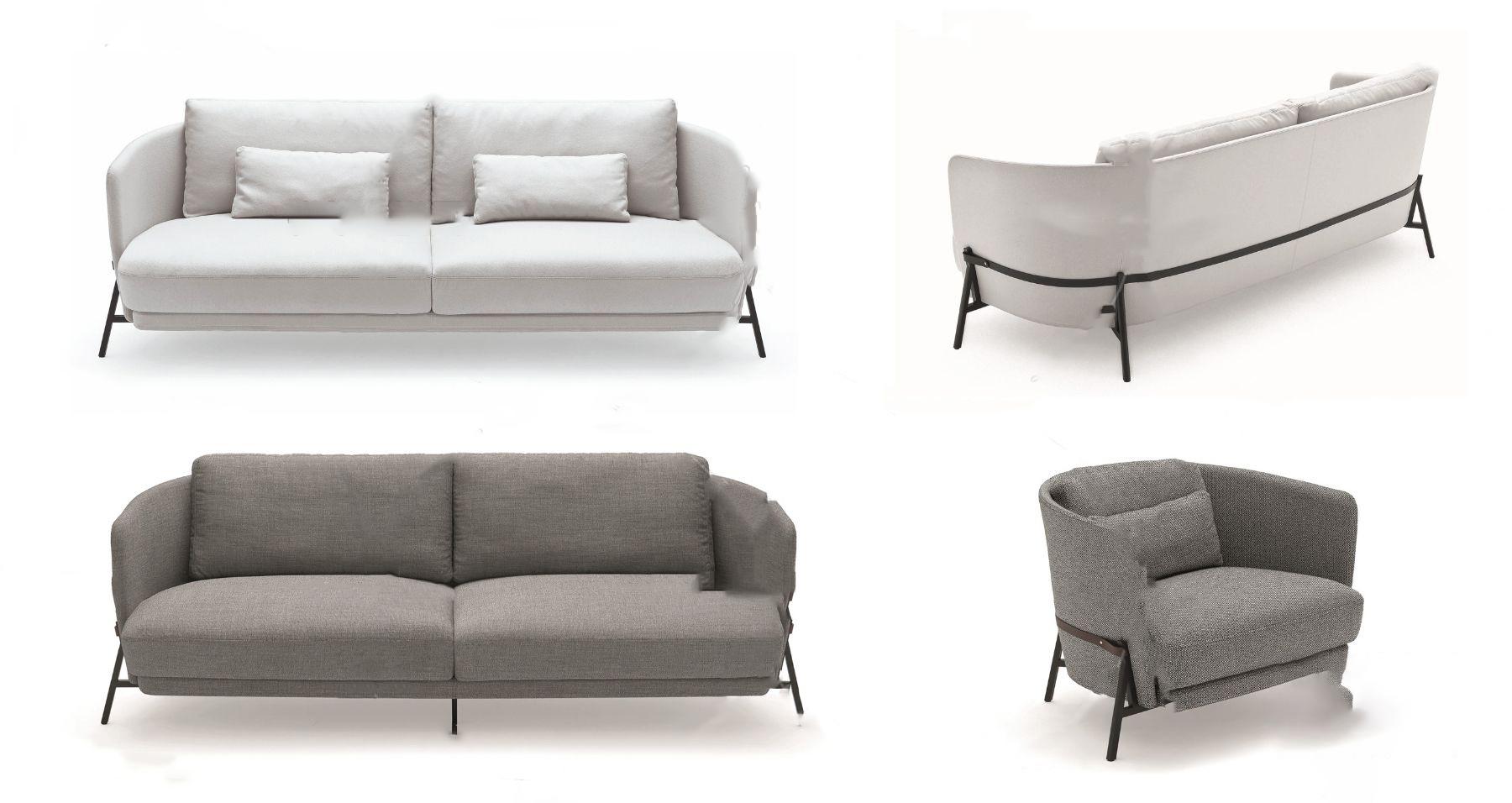 现代?#23478;?#21452;人沙发3D模型【ID:643349533】