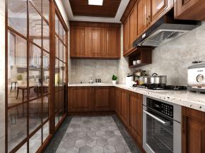 中式厨房橱柜3D模型【ID:927826516】