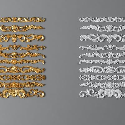 歐式金屬石膏雕花組合3D模型【ID:827814685】