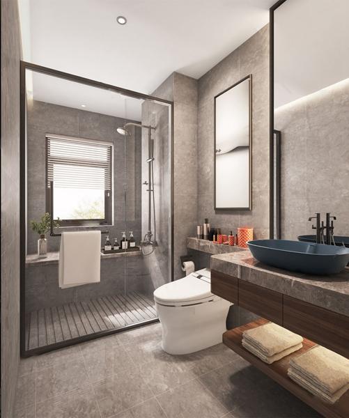 現代衛生間浴室3D模型【ID:547088543】