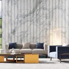 现代组合沙发茶几3d模型【ID:128223043】