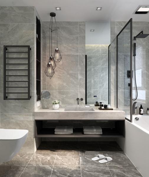 現代衛生間浴室3D模型【ID:546657508】