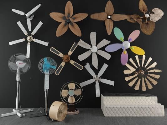 现代电风扇3D模型【ID:220614899】