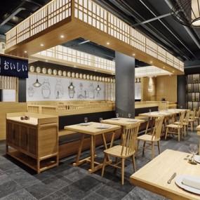 日式料理店3D模型【ID:328020043】