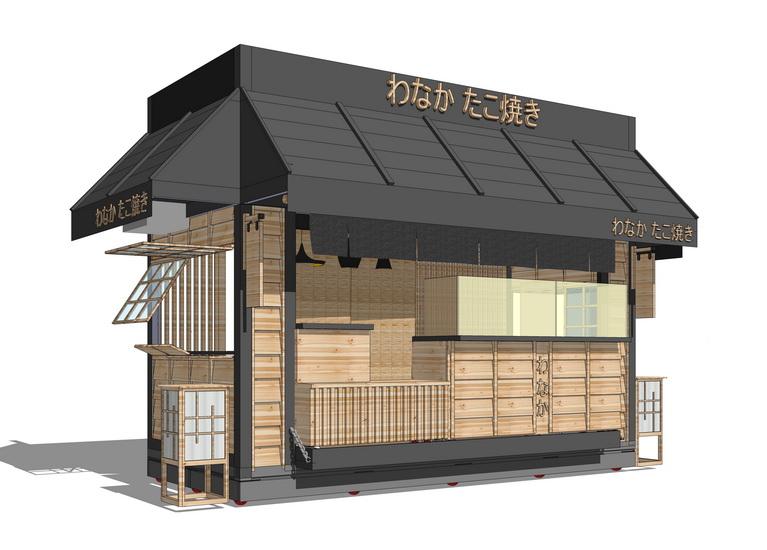 日式小卖部SU模型【ID:636779666】