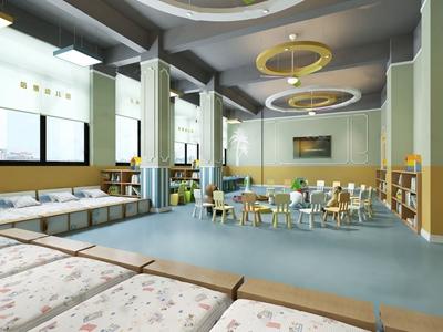 幼儿园教室3D模型【ID:934269665】