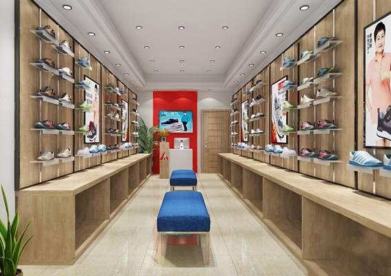 鞋店3D模型【ID:720024015】