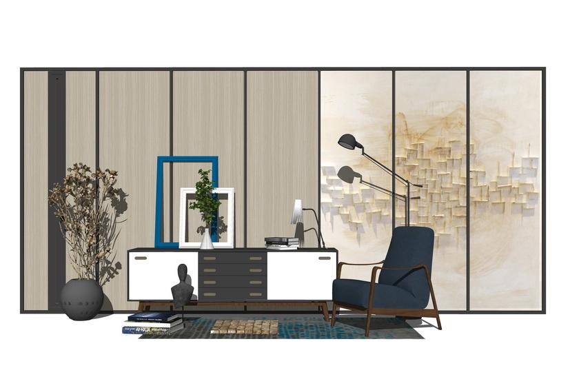 现代家具组合SU模型【ID:436780138】