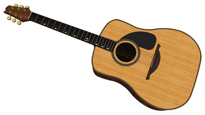 阿尔罕布拉宫的木吉他SU模型【ID:940199128】