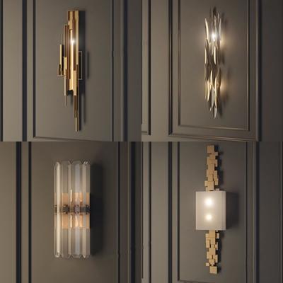 現代簡歐壁燈3D模型【ID:528021954】