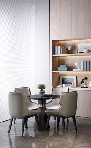 现代桌椅组合3D模型【ID:841630876】