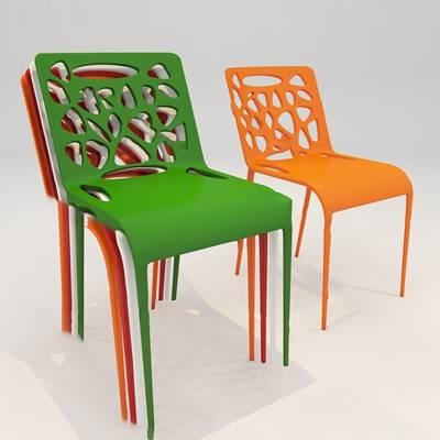 现代餐椅3D模型【ID:920619019】