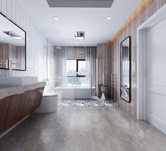 现代卫生间 现代卫浴 洗手台 马桶 浴缸 台盆柜 梳妆镜 浴帘