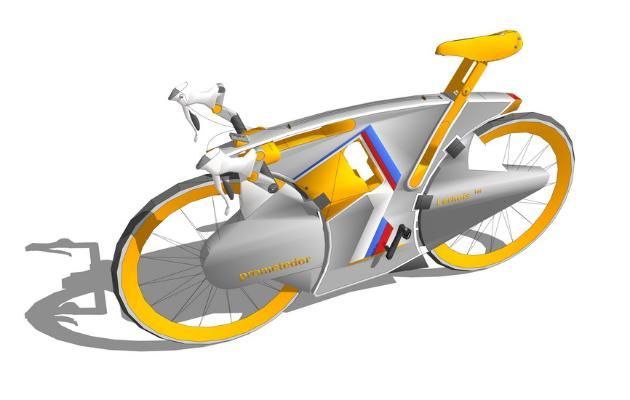 概念自行车SU模型【ID:247253146】