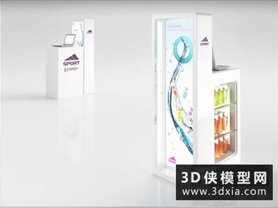 饮料展柜国外3D模型【ID:229818330】
