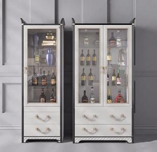 现代轻奢酒柜3D模型【ID:928354019】