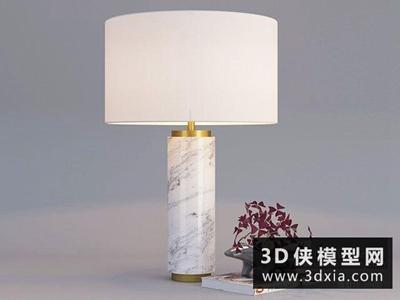 现代台灯国外3D模型【ID:829505926】