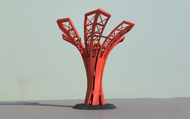 现代城市雕塑3D模型【ID:326235808】