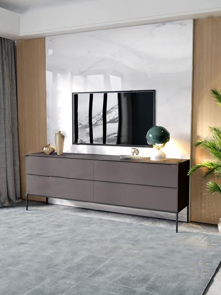 現代電視柜3D模型【ID:946259986】