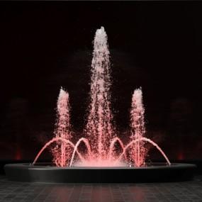 现代喷泉3D模型【ID:128414868】